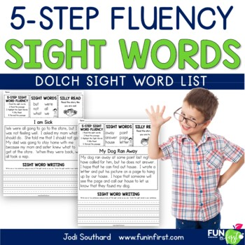 Sight Words - 5-Step Fluency (Dolch List)