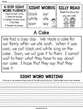 Sight Words - 5-Step Fluency (Dolch List)