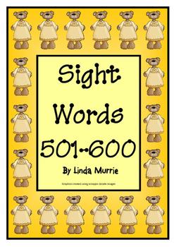 Sight Words 501-600
