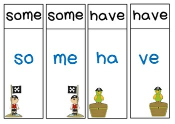 Oxford Sight Words 51-100 Partner Match-Up Game (Pirate theme)