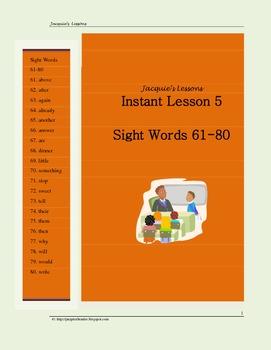 Sight Words 61-80