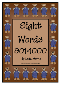 Sight Words 901-1000