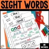 Sight Words -  115 Worksheets - Kindergarten - 1st grade