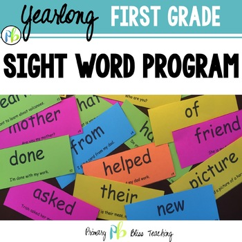 First Grade Sight Word Program (High Frequency Words) Outstanding!