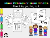 Sight Words High Frequency Words Activity Part2
