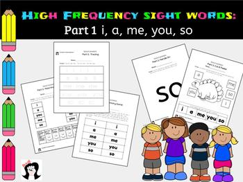 Sight Words High Frequency Words Activity Part1