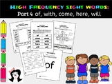 Sight Words High Frequency Words Activities Part4