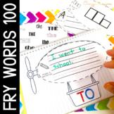 Sight Word Activities for kindergarten and First grade airsh(Fry's 1-100 bundle)