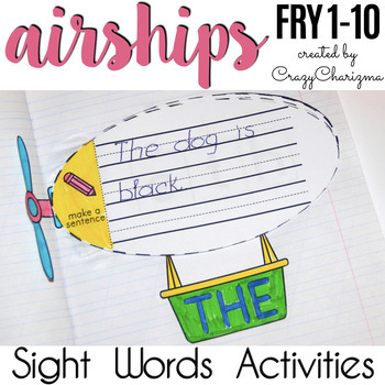 Sight Words Activities - Airships {Fry 1-10}