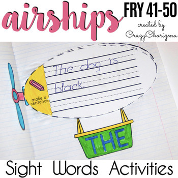 Sight Words Activities - Airships {Fry 41-50}