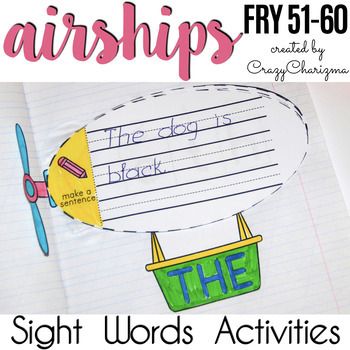 Sight Words Activities - Airships {Fry 51-60}