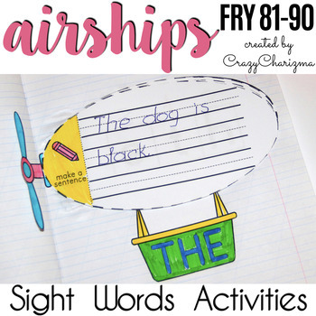 Sight Words Activities - Airships {Fry 81-90}