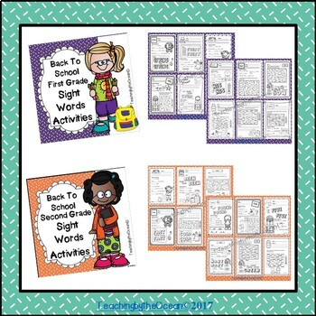 Sight Words Activities BUNDLE - Back to School Themed