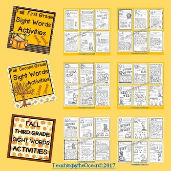 Sight Words Activities BUNDLE - Fall Themed