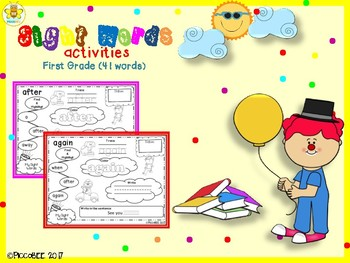Sight Words Activities - Carnival Edition {First Grade}