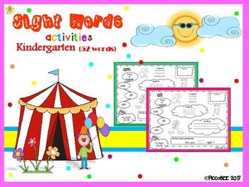 Sight Words Activities - Carnival Edition {Kindergarten}