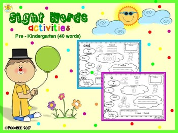 Sight Words Activities - Carnival Edition {Pre-K}