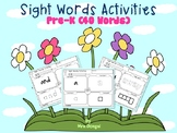Sight Words Activities Pre-K (40 Words)