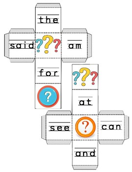 Sight Words Activities: Set One {AM, AT, AND, CAN, THE, SEE, FOR, SAID}