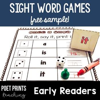 Sight Words Literacy Center