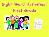 Sight Word Activity 1st Grade