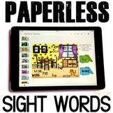 Sight Words Activities for Google Classroom™: Preschool and Kindergaten