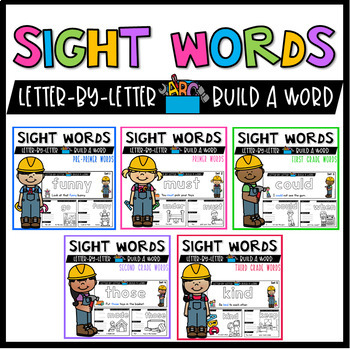 Sight Words Activities with Magnetic Letters & Sight Words Coloring Worksheets