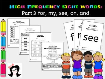 Sight Words High Frequency Words Activity Part3
