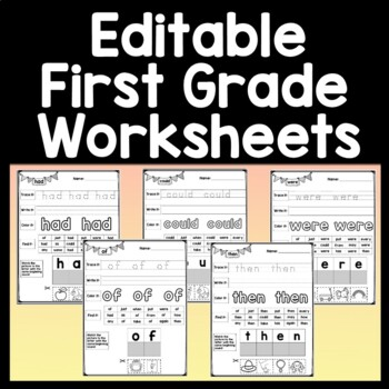 Sight Words First Grade Practice Pages {41 Pages!}