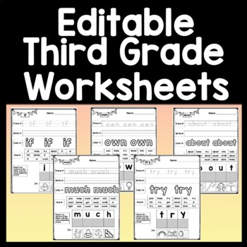 Sight Word Worksheets {41 Words!}