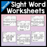 Second Grade Sight Word Worksheets {46 Practice Pages!}