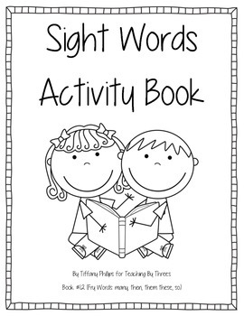 Sight Words Activity Book #12