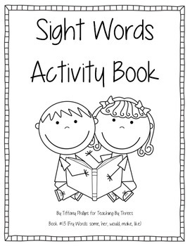 Sight Words Activity Book #13