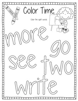 Sight Words Activity Book #15