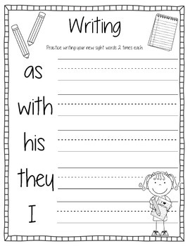Sight Words Activity Book #4