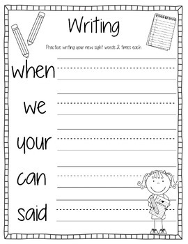 Sight Words Activity Book #8