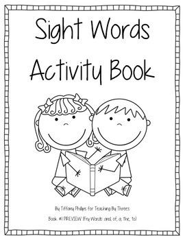 Sight Words Activity Book Bundle Books #1-10