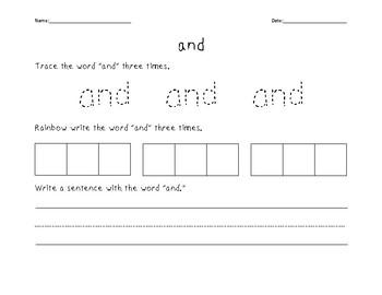 Sight Words Activity Bundle #1
