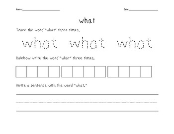 Sight Words Activity Bundle #4