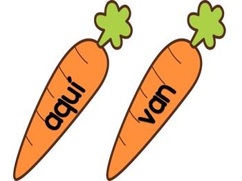 Sight Words Activity- Carrots Theme
