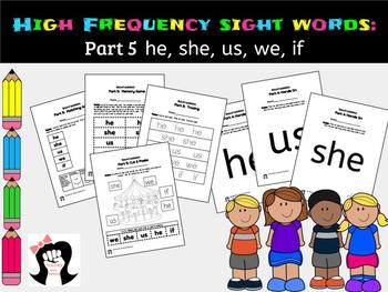 Sight Words High Frequency Words Activity Part5