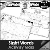 Sight Words Activity Mats - Fry 1-50 b&w edition