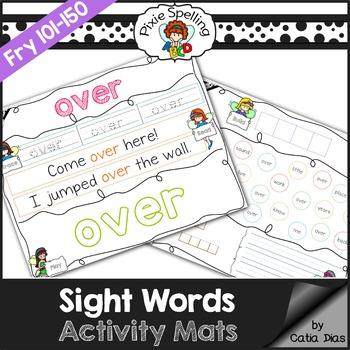 Sight Words Activity Mats - Fry 101-150