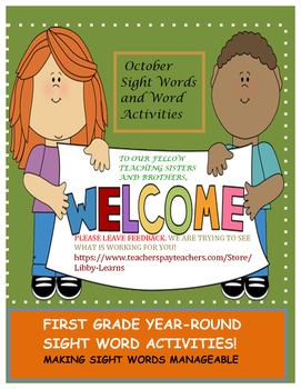 Sight Words Activity-October
