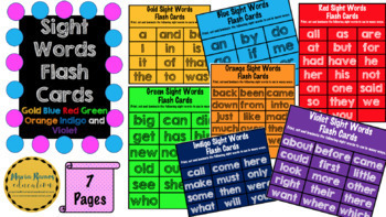 Sight Words Activity Pack (62 Page Bundle)