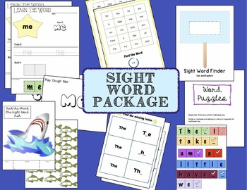 Sight Words Activity Package