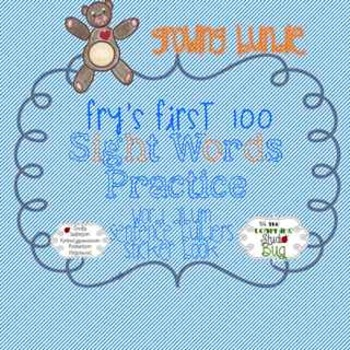 Fry's First 100 Sight Words Practice Activity Set ~ A Grow
