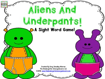 Sight Words!  Aliens And Underpants!  An EDITABLE Sight Wo