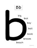 Sight Words Alphabet Letter b