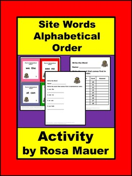 Alphabetical Order Site Words